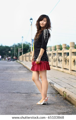 China Sexy teens at the mall in short skirt -