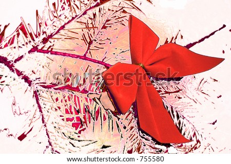 a christmas bow abstract