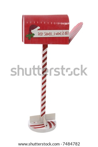 A Christmas mailbox waiting for Santa Claus