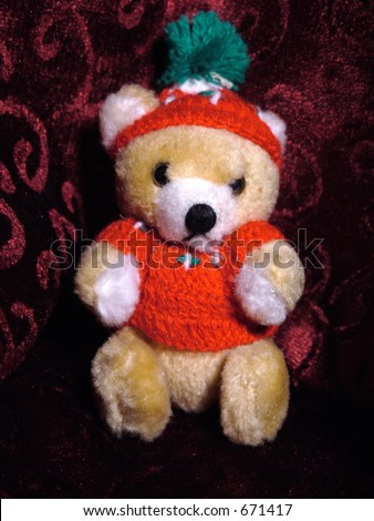 A Christmas tree ornament bear
