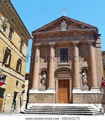 A church in Siena, Italy A