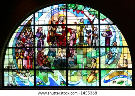 A church's stained glass window