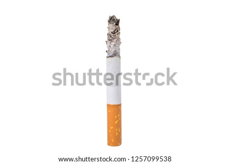 A cigarette isolated at the white background ストックフォト ©