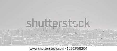 a city panorama illustration, illustration 3d