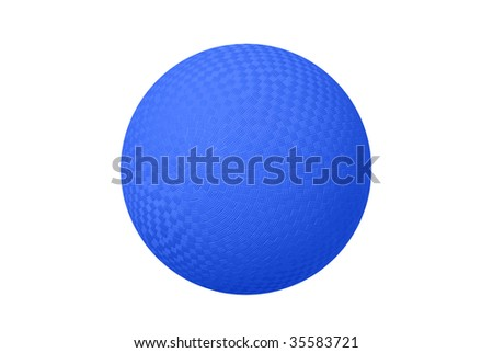 A classic dodge ball isolated on white shows the crosshatch patterns used for grips.