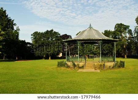 A classic Victorian bandstand in Abington Park, Northampton