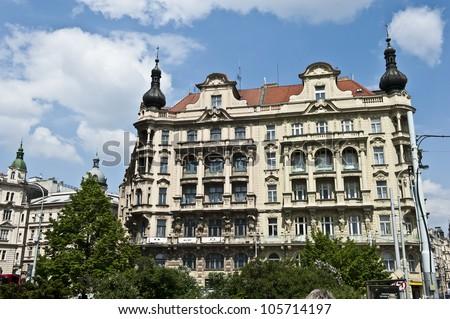 A classical Prague architecture located down Jiraskovo Namesti.