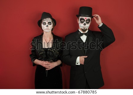 skeleton makeup couple