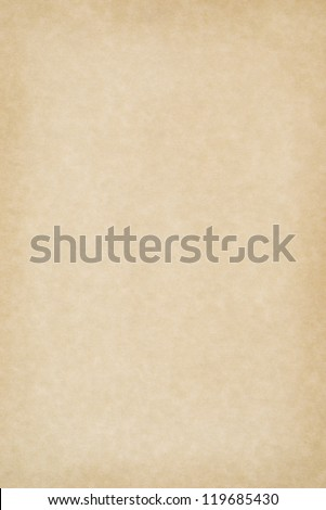 A clean, blank sheet of yellowed parchment paper for background texture and copy space.