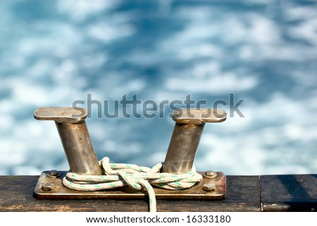 A cleat is a fitting on ships, boats and docks to which ropes are tied
