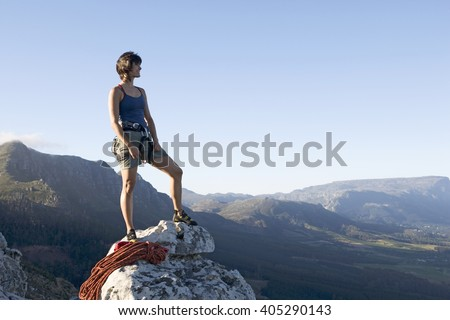 A climber at the top