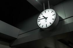 A clock at a train station