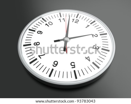 A Clock. 3D rendered Illustration.