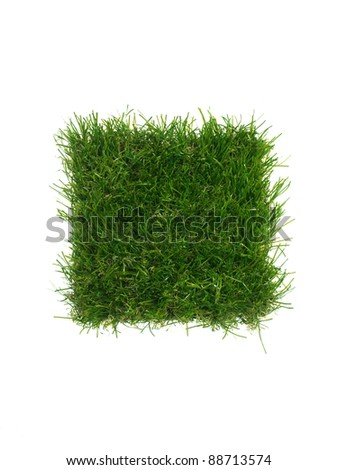 A close up image of artificle grass