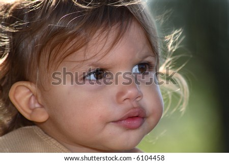 A Close-Up Of A Baby'S Puzzled Face Stock Photo 6104458 ...