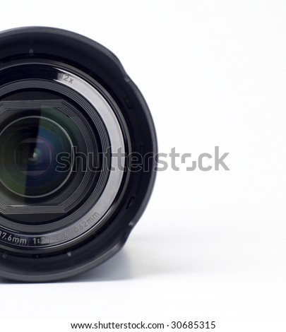 A close up of a camera lens