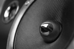 a close up of a high end speaker