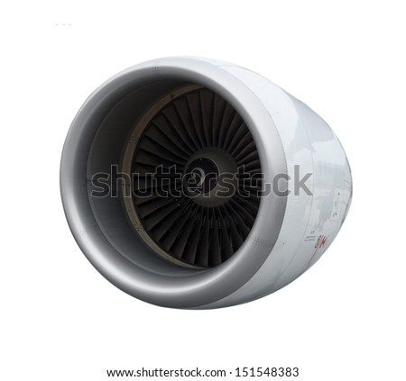 A close-up of a jet engine