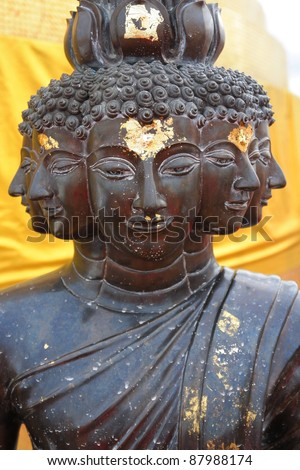 a close up of a statue of buddha