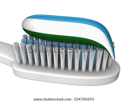 A close up of a toothbrush with toothpaste ready to brush your teeth