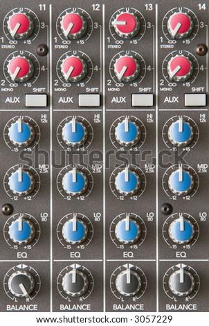 A Close Up Of An Audio Mixer