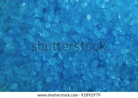 A close up of blue crystal rocks.