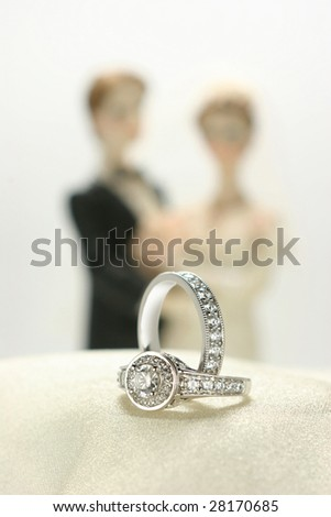 A close up of Diamond ring-G.