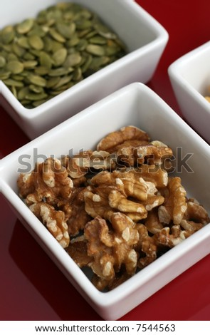 A close up of healthy seeds and nuts