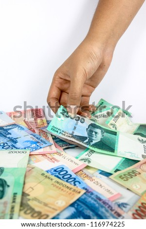 A close up of Indonesia currency #116974225