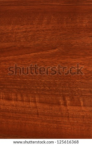 A close up of mahogany, teak or stained wood grain for website wallpaper or background