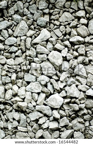 A close up of rocky gravel stones.
