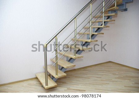 A close up of staircase in house