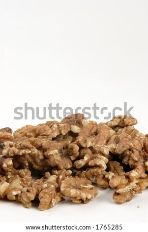 A Close up of Walnuts against a White Background
