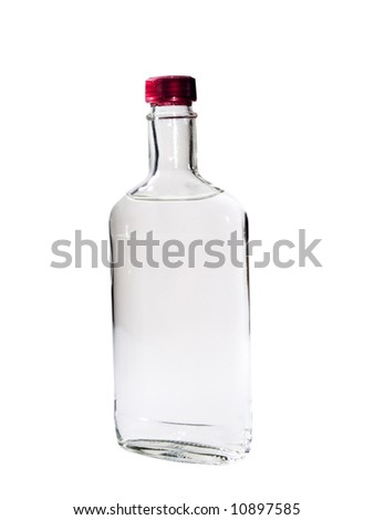 A close up on a bottle of Vodka isolated on a white background. #10897585