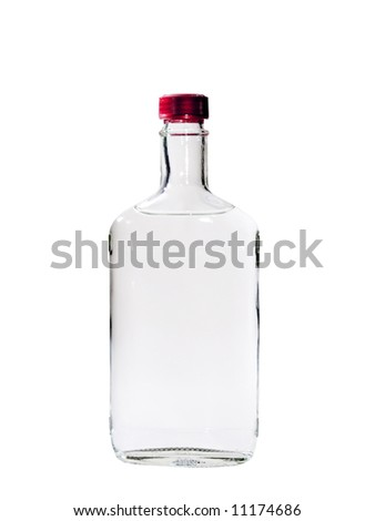 A close up on a bottle of Vodka isolated on a white background. #11174686