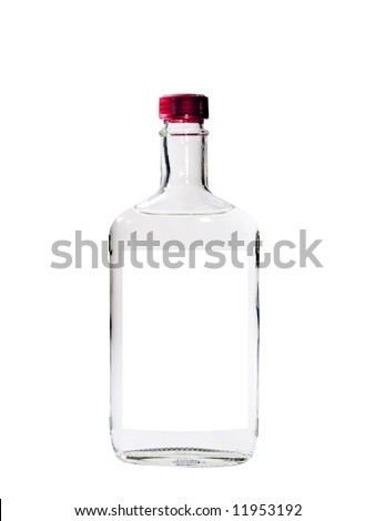 A close up on a bottle of Vodka isolated on a white background. #11953192