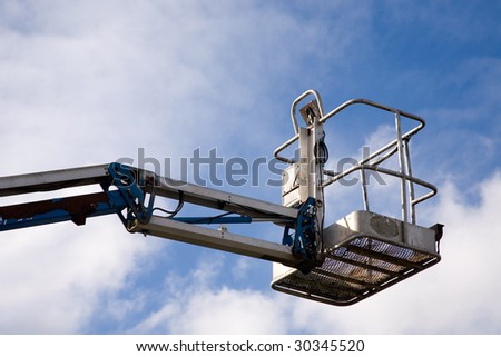 A close up on an industrial elevated crane platform.