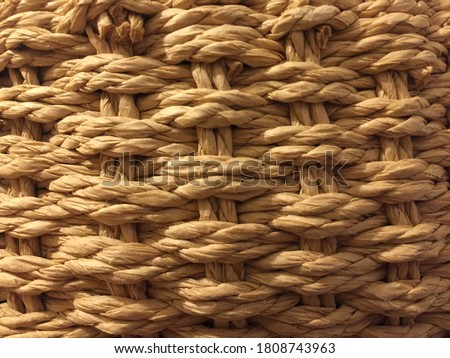 A close-up pattern of the wicker basket. Stok fotoğraf ©