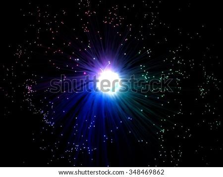Royalty-free Blue flaming vector meteor cosmic… #334083341 ...
