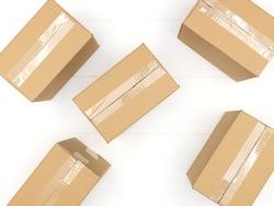 A close up shot of a cardboard box