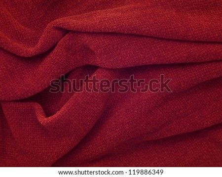 A close up shot of a colored blanket
