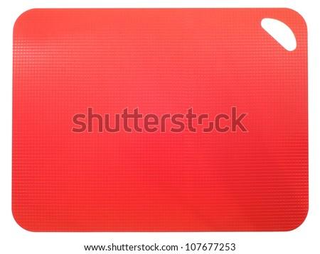 A close up shot of a plastic chopping board