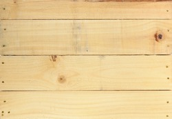 A close up shot of a wooden crate