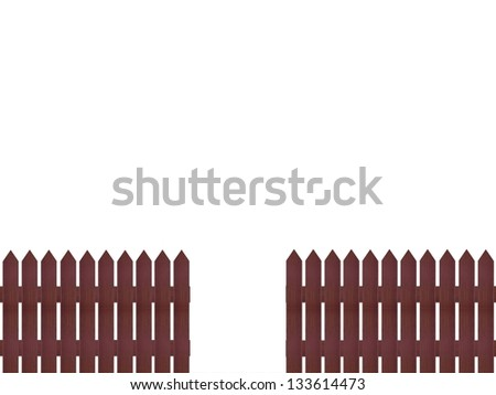 A close up shot of a wooden picket fence