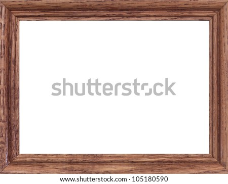 A close up shote of a vintage wooden photo frame