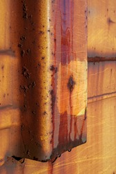 A close up texture of a rusted  train wagon