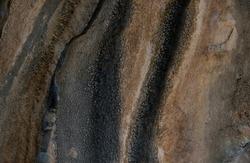 A close up weathered eroded limestone