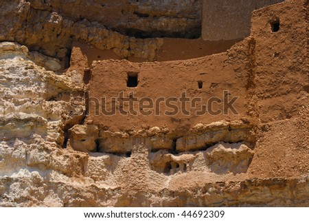 A closer shot of one of the Dwellings at Montezuma's Castle in Arizona