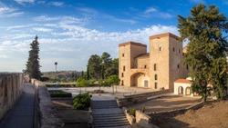 A closeup of an archaeological museum Bodega San Jose in Badajoz, Spain