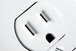 A closeup view of an North American electrical outlet.
